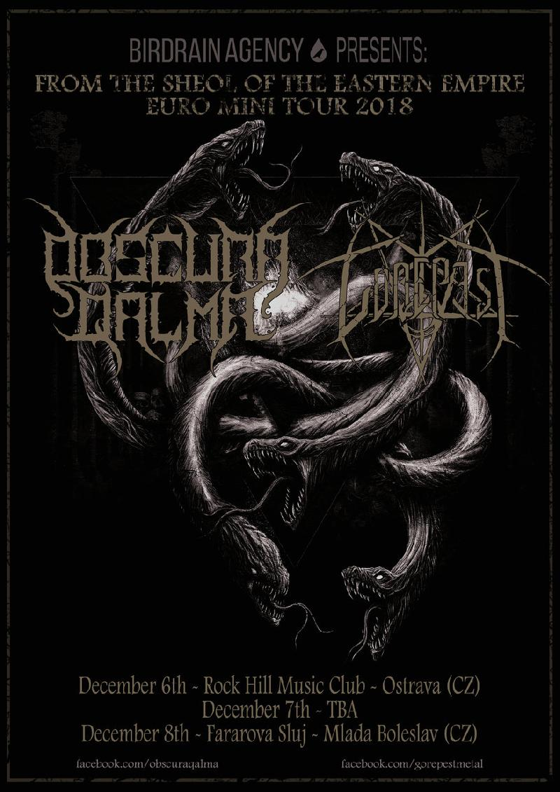 OBSCURA QALMA e GOREPEST: 'From The Sheol Of The Eastern Empire' euro minitour 2018