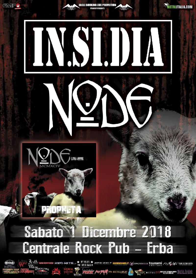 IN.SI.DIA, NODE: i dettagli dei release party di ''Propheta'' al Centrale Rock Pub