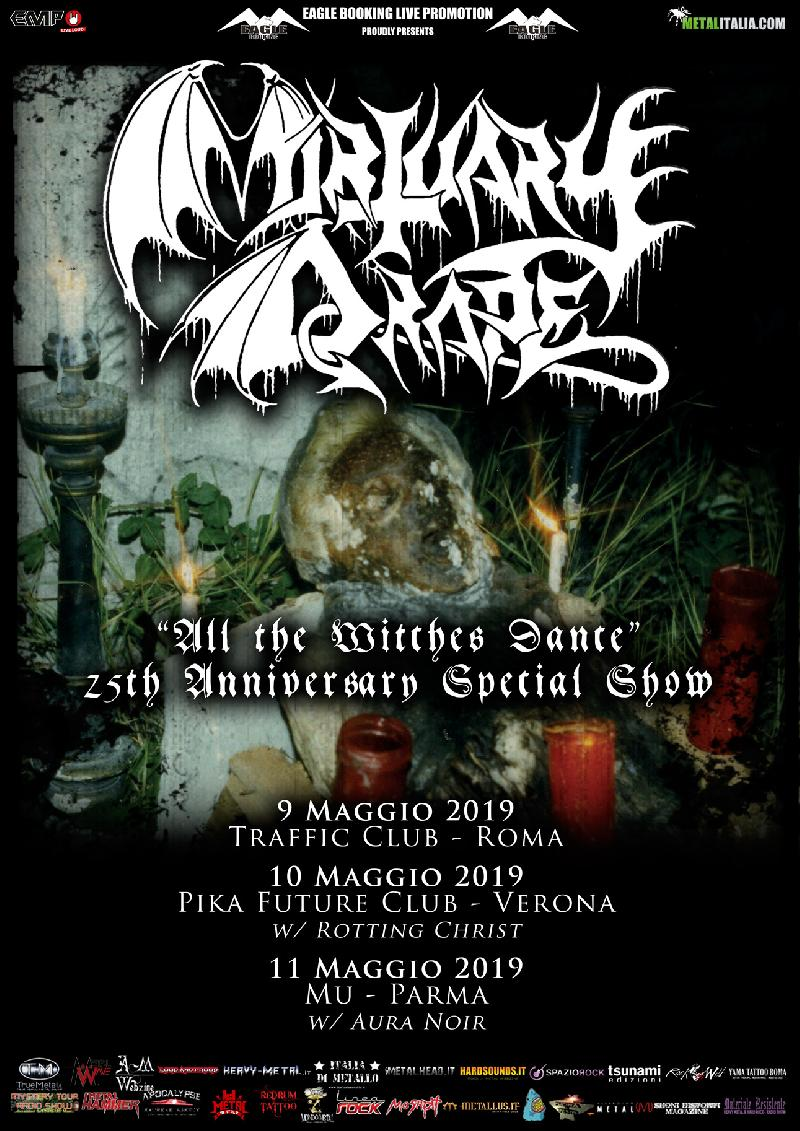 "MORTUARY DRAPE: tre date per celebrare il 25° di ""All the Witches Dance"""