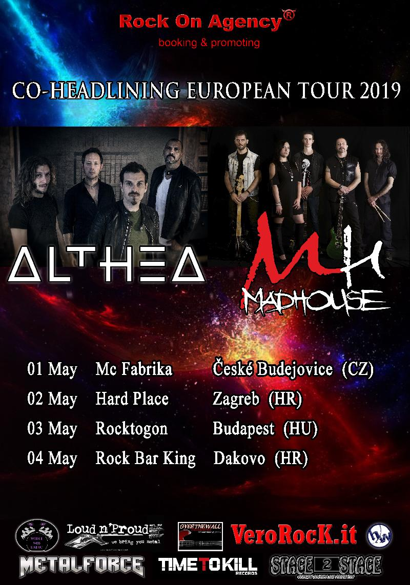 ALTHEA e MADHOUSE: in tour europeo a Maggio