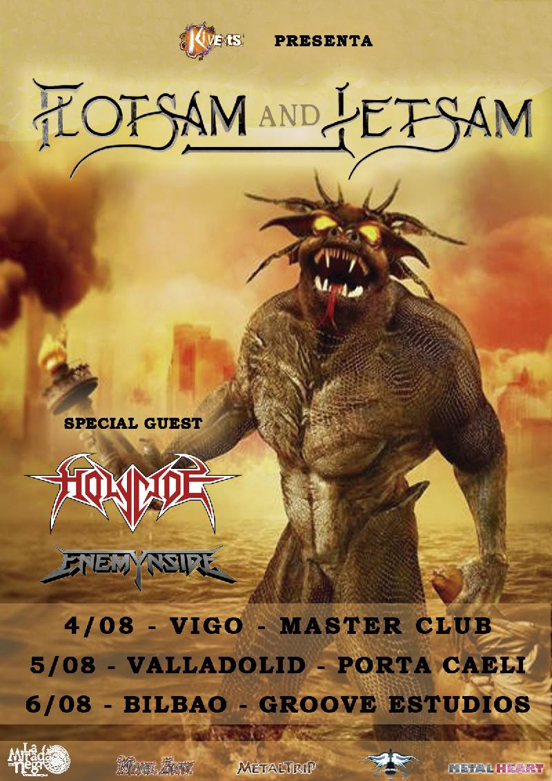 ENEMYNSIDE: di supporto ai FLOTSAM AND JETSAM ed una data a Ibiza come headliner