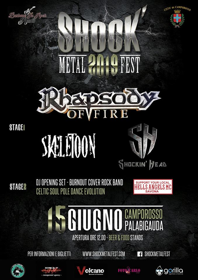 SHOCK METAL FEST: il 15 giugno con Rhapsody Of Fire a Imperia