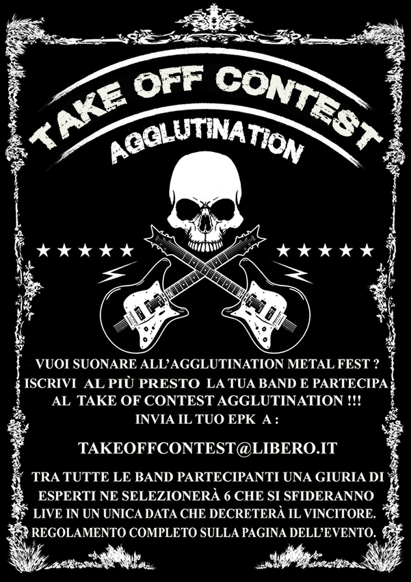 TAKE OFF CONTEST AGGLUTINATION: la metal battle per suonare al AGGLUTINATION METAL FEST