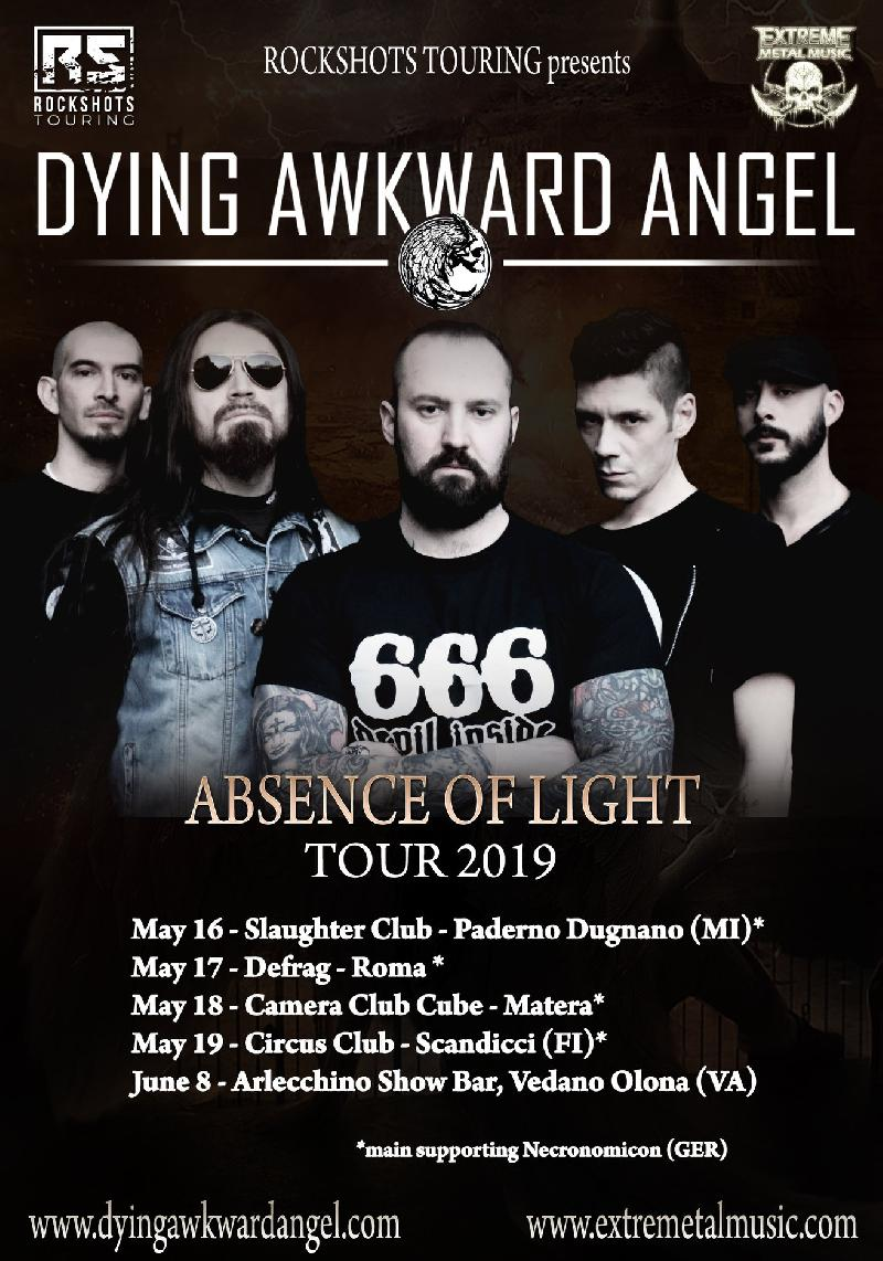 DYING AWKWARD ANGEL: le prime date del tour italiano