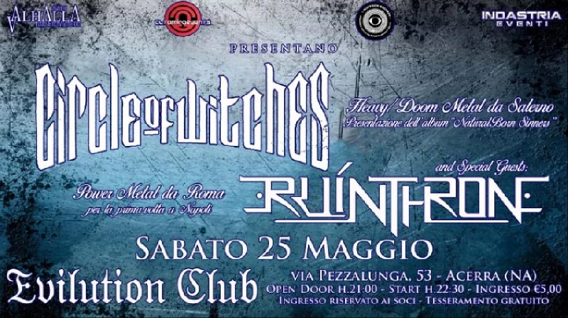 "CIRCLE OF WITCHES: i dettagli del Release Party di ""Natural Born Sinners"""