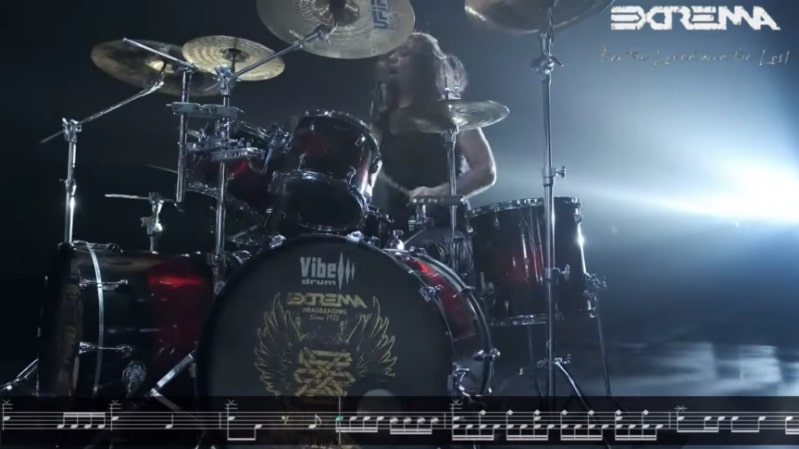 EXTREMA: pubblicano il drum-playthrough di ''For The Loved And The Lost''