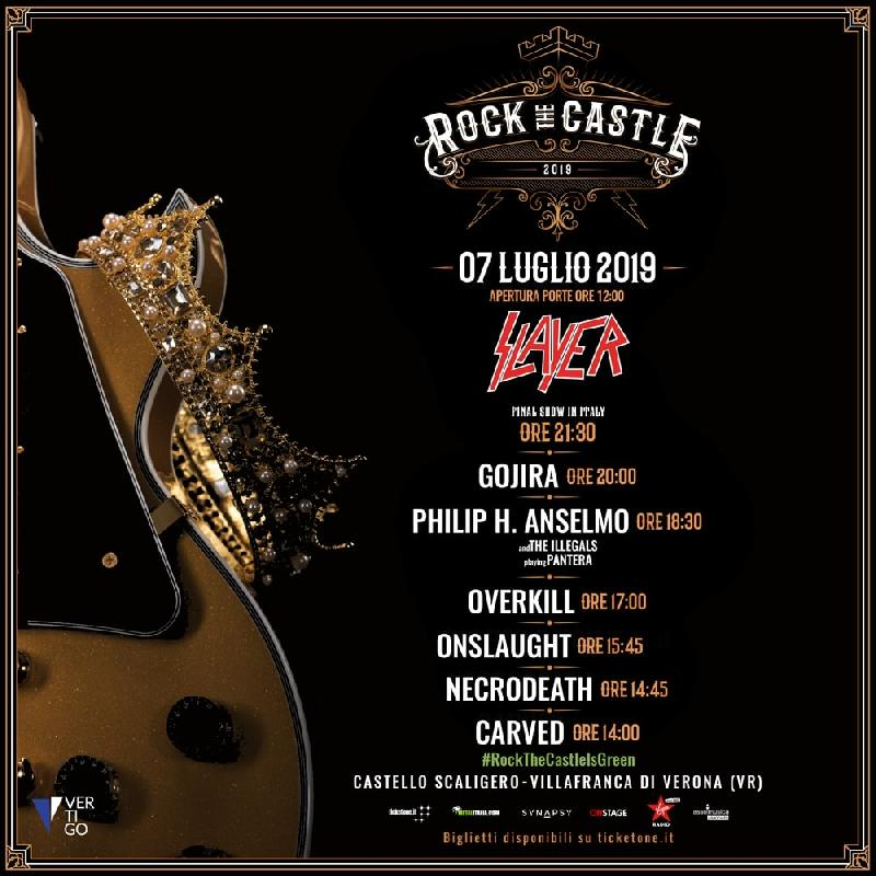 ROCK THE CASTLE 2019: gli ONSLAUGHT sostituiscono i SACRED REICH