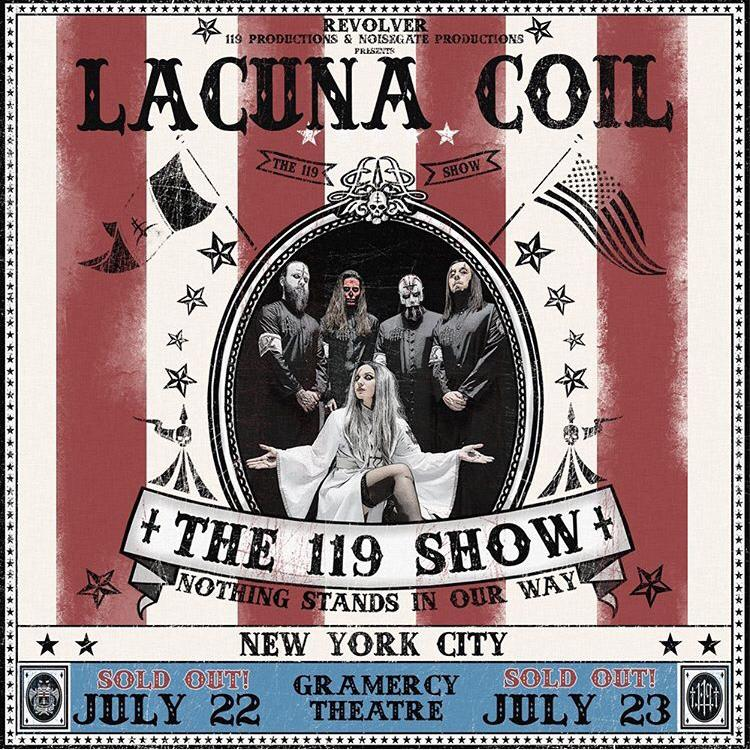 LACUNA COIL: due date sold out a New York con ospite Melissa VanFleet