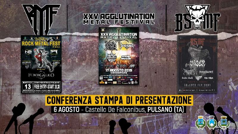 AGGLUTINATION, ROCK METAL FEST e BREAKING SOUND: conferenza stampa di presentazione dei tre eventi metal