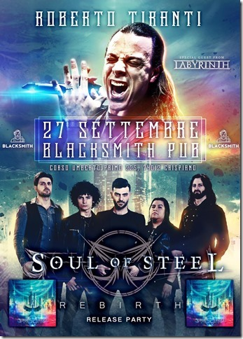 SOUL OF STEEL & ROBERTO TIRANTI: i dettagli del release party