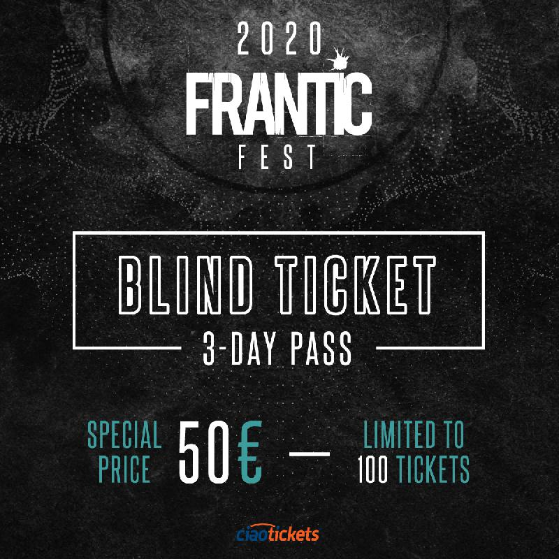 FRANTIC FEST 2020: in vendita i Blind Ticket