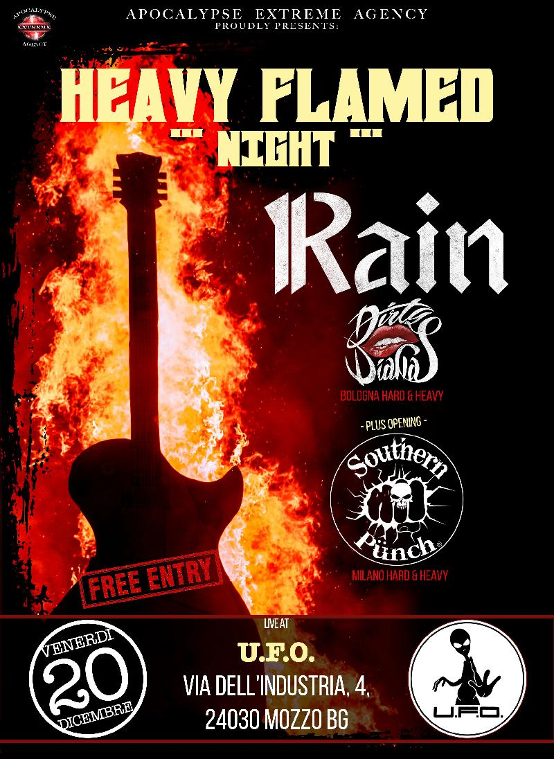 HEAVY FLAMED NIGHT: con Rain & Dirty Dianas e Southern Punch a Bergamo