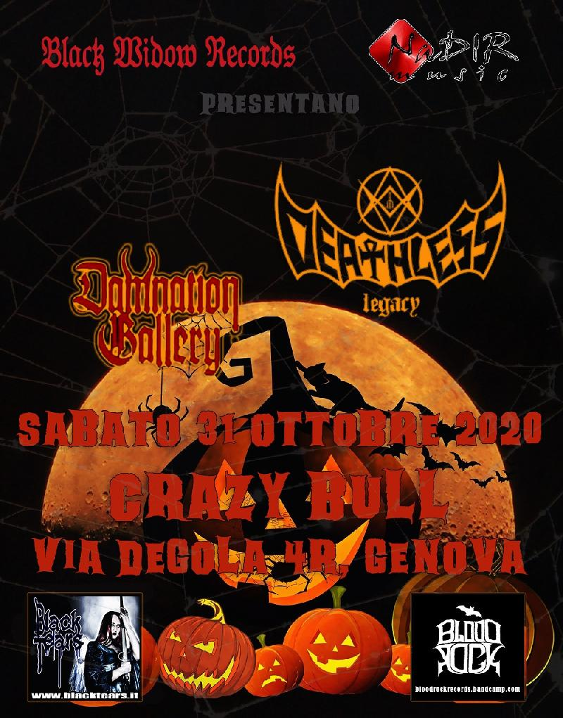 HALLOWEEN TERROR NIGHT: la notte di Halloween con DEATHLESS LEGACY e DAMNATION GALLERY