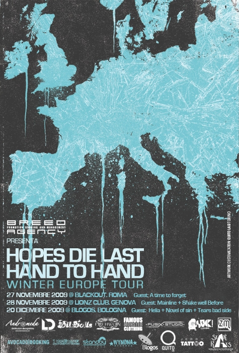 HOPES DIE  LAST: tour europeo con HAND TO HAND