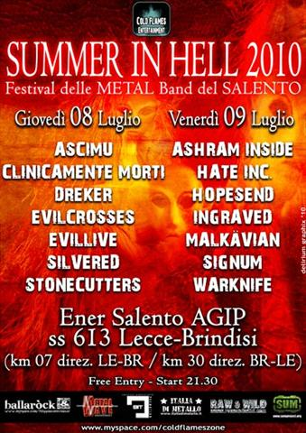 SUMMER IN HELL 2010: presentazione delle bands