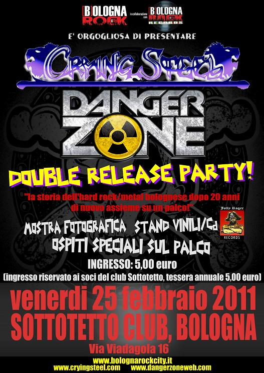 CRYING STEEL + DANGER ZONE: doppio release party