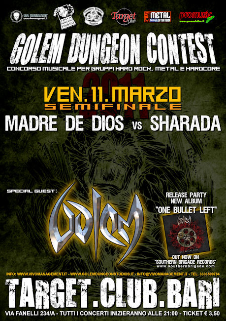 "GOLEM: release party di ""One Bullet Left"""