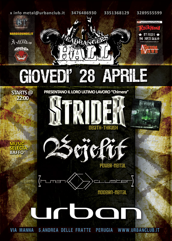 HEADBANGERS HALL: giovedì release party degli Strider
