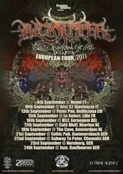 BACKJUMPER: tour europeo a Settembre