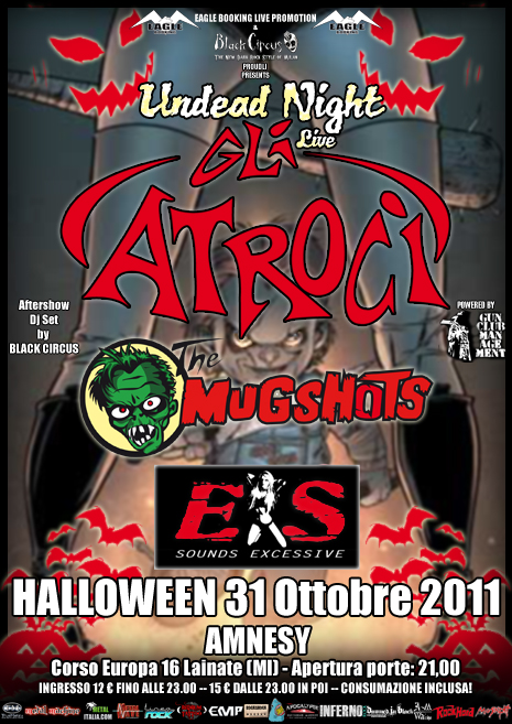 Halloween Undead Night: con Gli Atroci e Black Circus