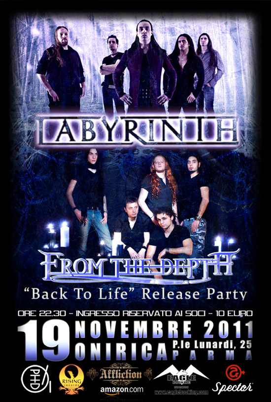 FROM THE DEPTH: realese party con i LABYRINTH