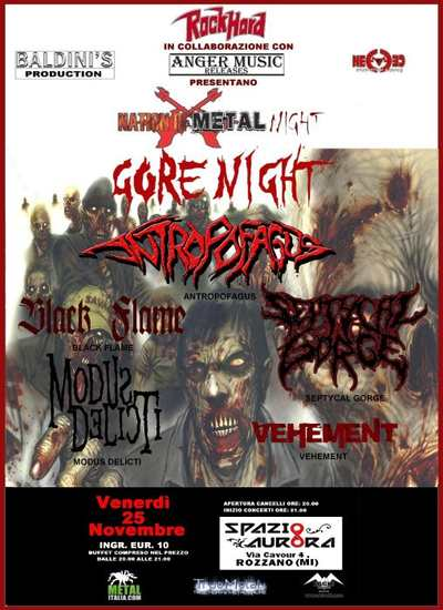 NATION OF METAL NIGHTS: i dettagli dell'evento Gore Night