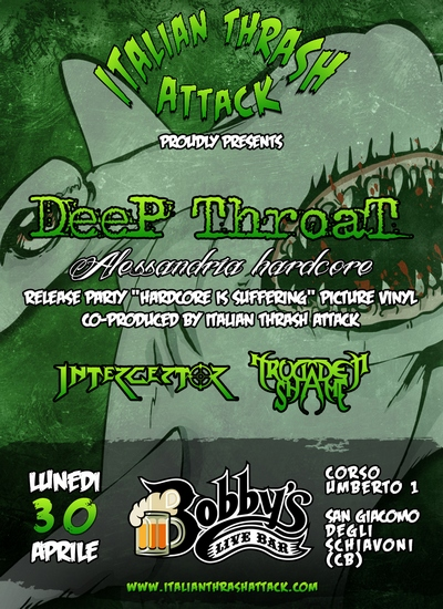 DEEP THROAT: release party del nuovo LP