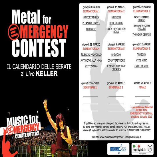 MUSIC FOR EMERGENCY: contest nel bergamasco