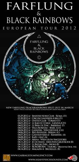 BLACK RAINBOWS: tour europeo con i FARFLUNG
