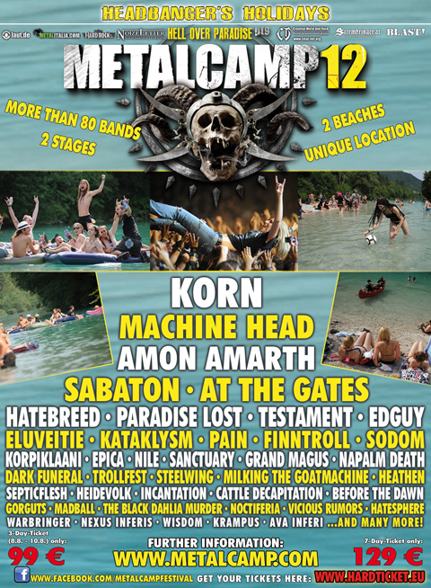 METALCAMP 2012: 13 nuove conferme e video-trailer