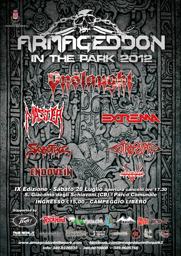ARMAGEDDON IN THE PARK 2012: running order, info e trailer ufficiale
