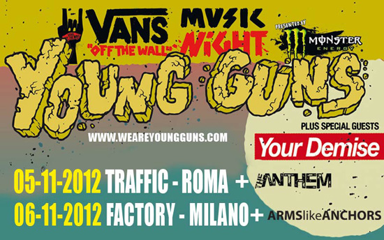 VANS OFF THE WALL MUSIC NIGHT: ecco i nomi degli opener per le date italiane