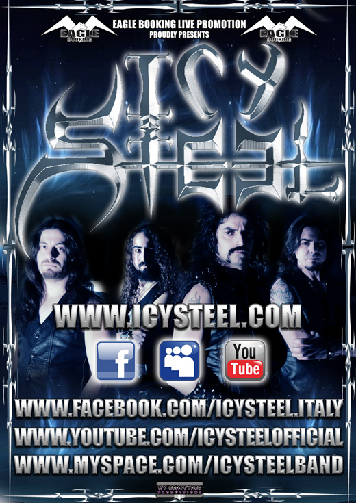 ICY STEEL: collaborazione con la Eagle Booking Live e nuovo sito web