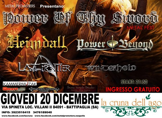 POWER OF THY SWORD METAL FEST: i dettagli dell'evento salernitano
