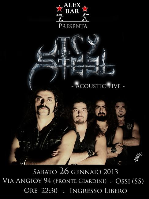 ICY STEEL: dal vivo in acustico