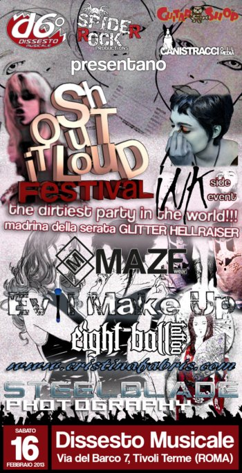 SHOUT IT LOUD FESTIVAL: erotismo, tattoos, makeup e moda per il side event