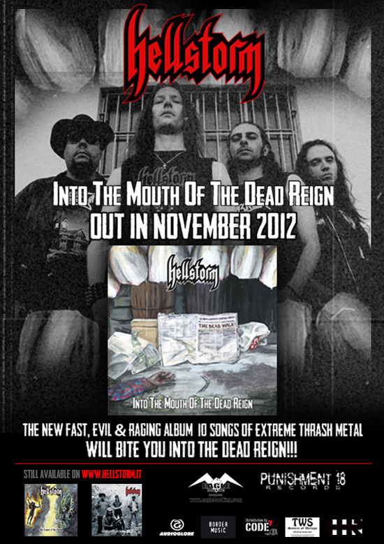 "HELLSTORM: ""Into the Mouth of the Dead Reign"" è sold out"
