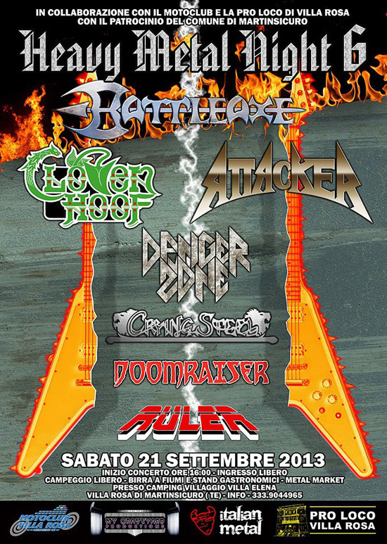 HEAVY METAL NIGHT VI: il bill dell'edizione 2013