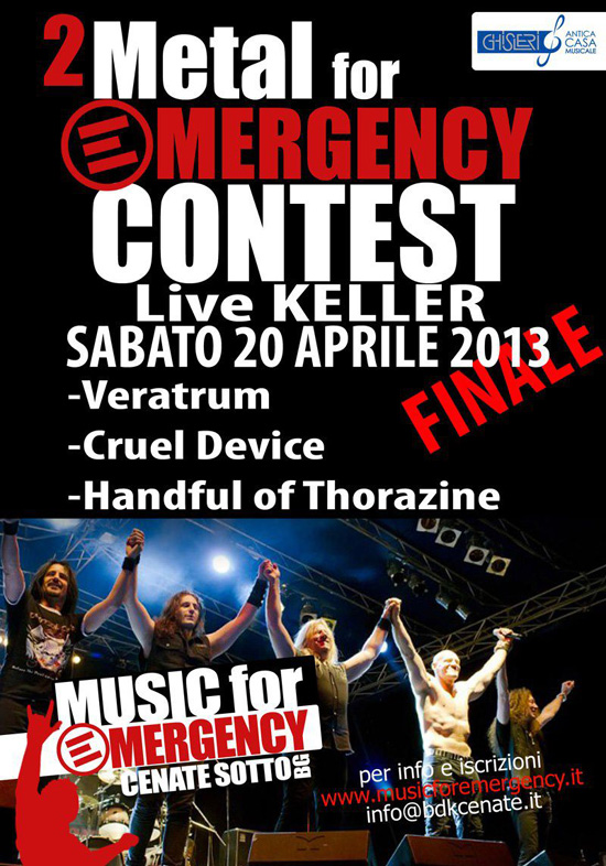 VERATRUM: in finale al METAL FOR EMERGENCY