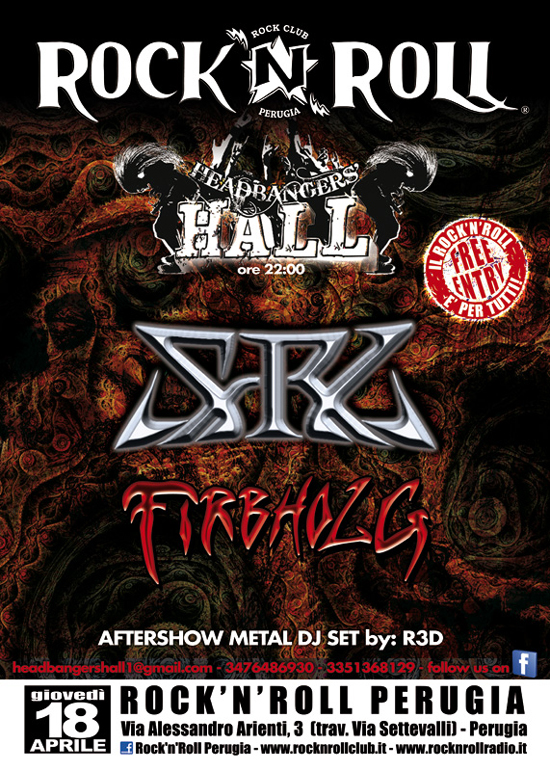 HEADBANGERS HALL: giovedì S.R.L. e FIRBHOLG in concerto
