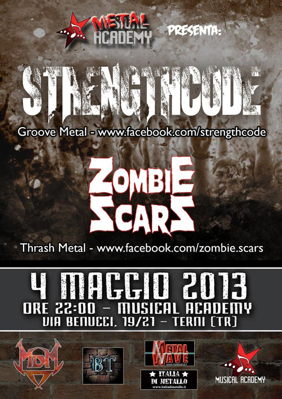 METAL ACADEMY: in arrivo STRENGTHCODE e ZOMBIE SCARS