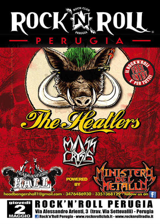 HEADBANGERS HALL: giovedì THE HEATLERS e MASS CRYSIS in concerto