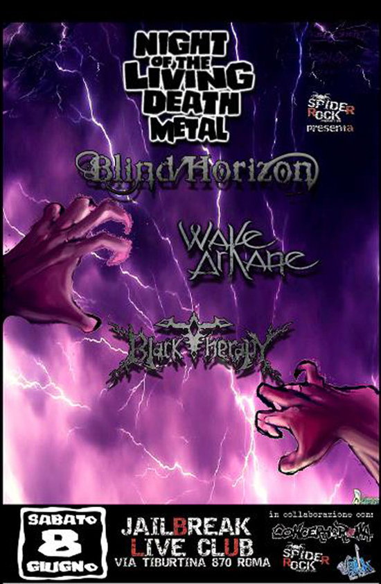 WAKE ARKANE: prima volta a Roma con BLIND HORIZON e BLACK THERAPY
