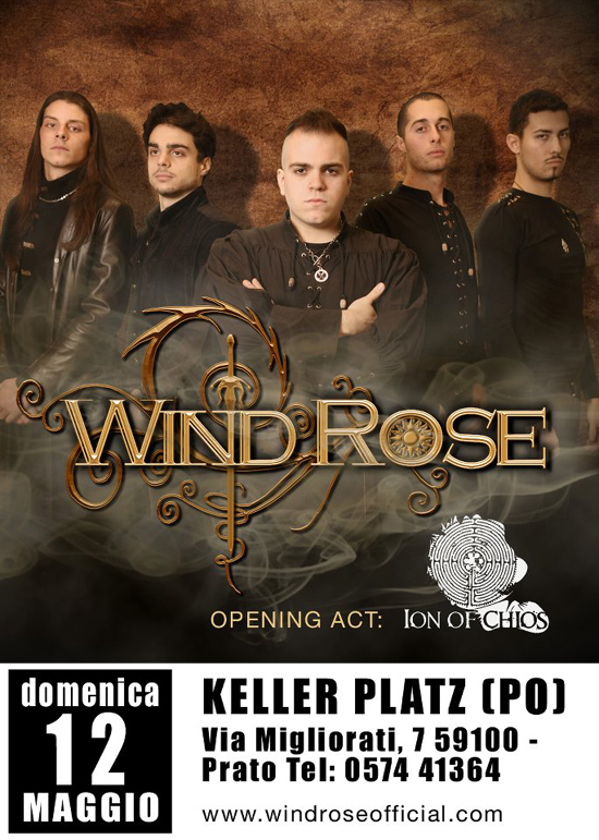 WIND ROSE: prossimo live insieme ai ION OF CHIOS