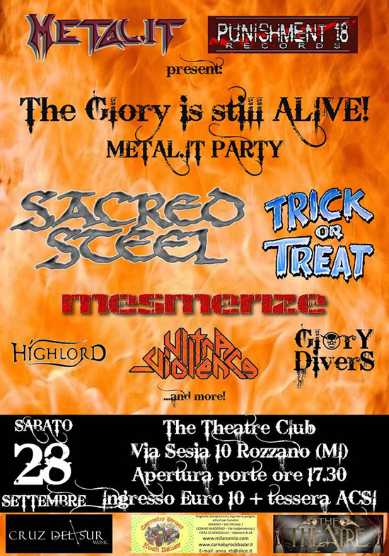 THE GLORY IS STILL ALIVE: Metal.it Party