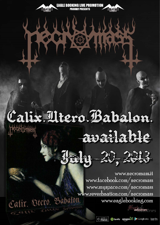 "NECROMASS: ""Calix. Utero. Babalon."" disponibile in digitale"