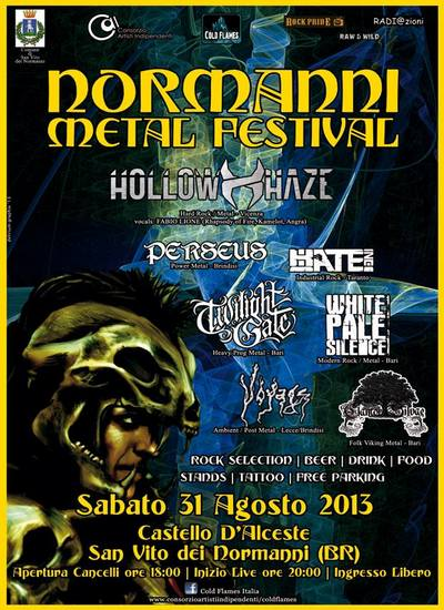 NORMANNI METAL FESTIVAL: stasera a Brindisi