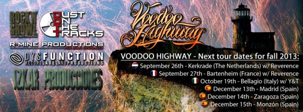 VOODOO HIGHWAY: annunciato tour europeo