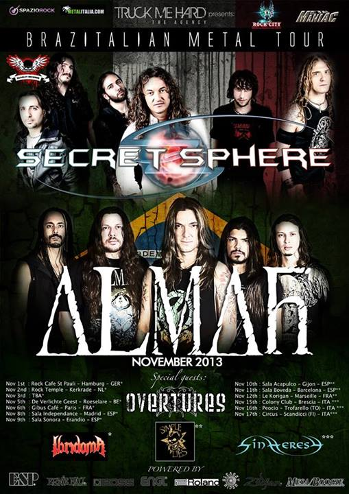 IBRIDOMA: a novembre in tour con Secret Sphere ed Almah