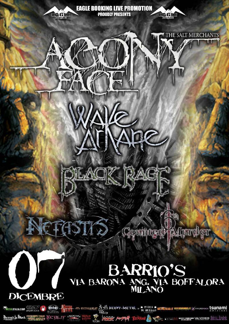 AGONY FACE e BLACK RAGE: doppio release party al Barrio's Cafe'